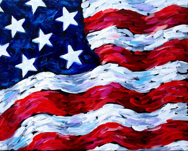 USA Flag - Caribe Art