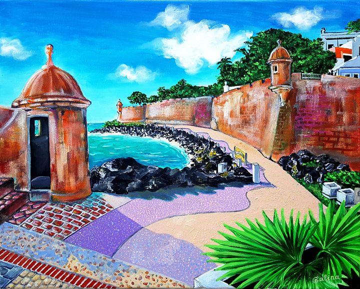 Paceo La Princesa Old SJ Puerto Rico - Caribe Art