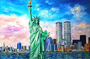 NY Manhattan WTC Statue of Liberty - Caribe Art