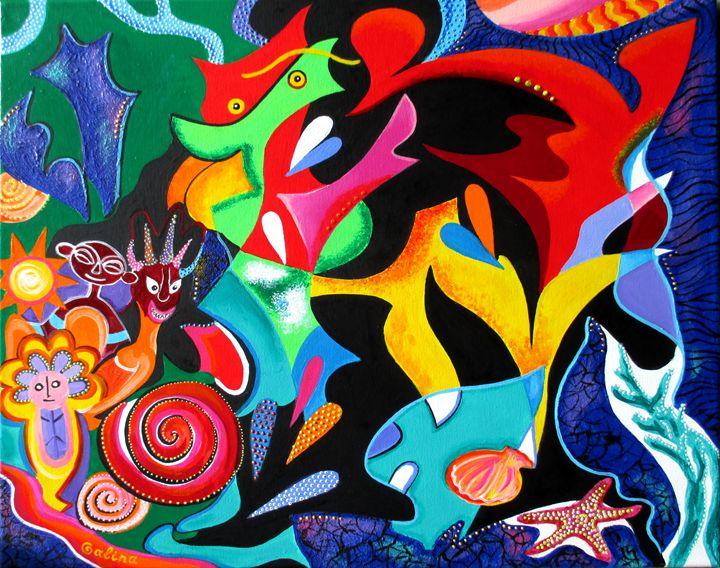 Echoes of Taino and Vejigantes - Caribe Art