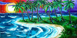 Island Sunset - Caribe Art