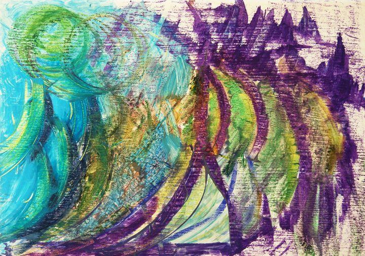 violet landscape - sipapuni art