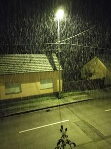 It's snowing like crazy!