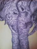 Arycylic background with pencil draw