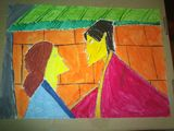 Asian couple in village