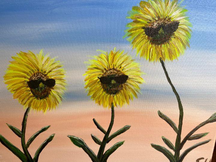Cool sunflower dudes - Susanne Hay