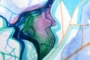 Abstract watercolor fragment