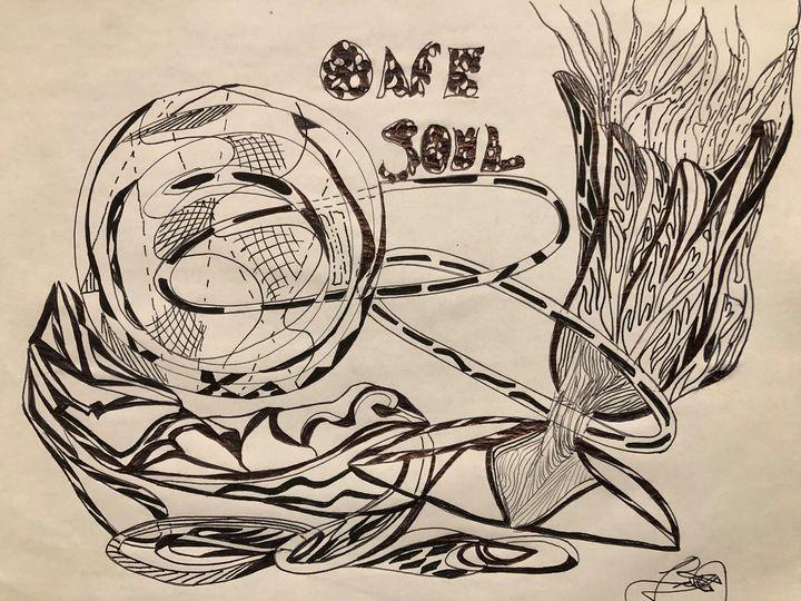 Art-figurative - Drawing artist- print
