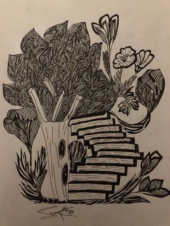 Art/Garden - Drawing artist- print