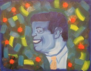 JFK pop art portrait