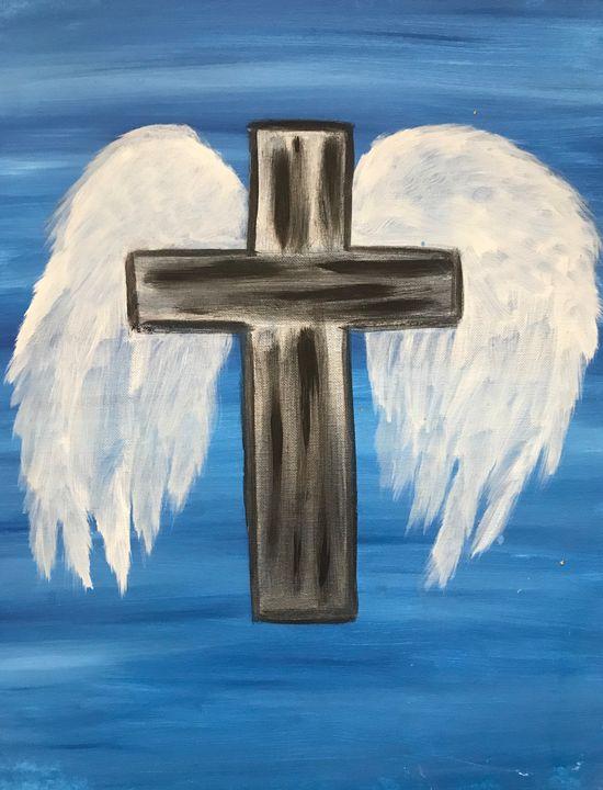 Metal Cross Angel Wings - MarilynTye