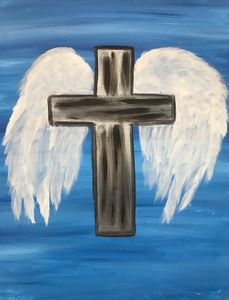 Metal Cross Angel Wings