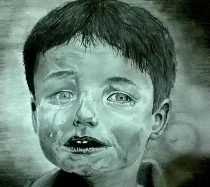 Sad Boy - Manu Artworks
