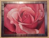 Red Rose Closeup Oil Painting