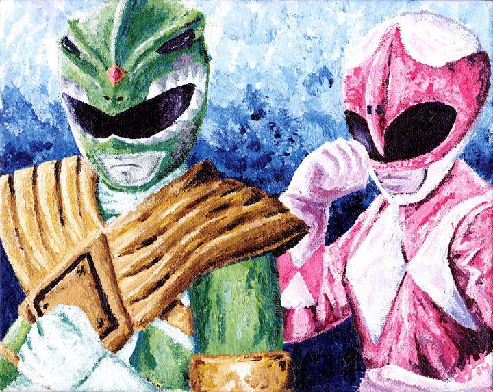 Green & Pink Ranger - 1987 creative