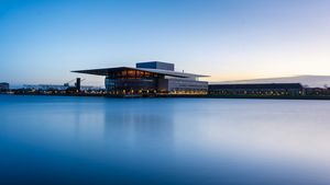 Long exposure of copenhagen opera