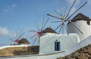 Landmark windmills of greece