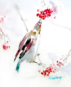 asian decor bird painitng
