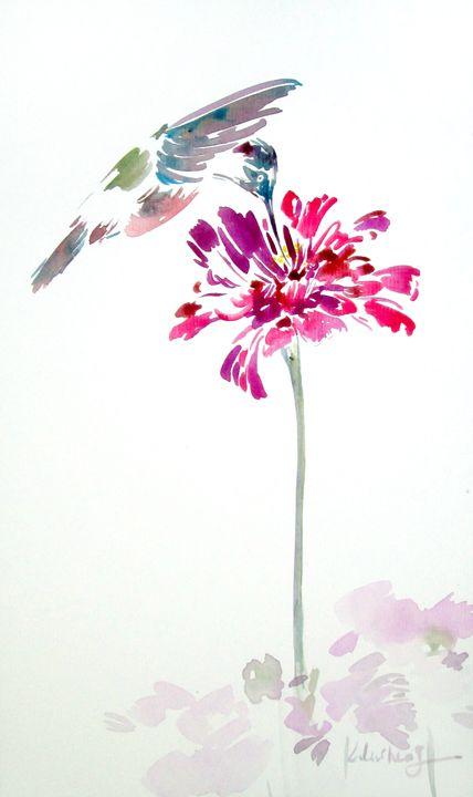 hummingbird painting - lulucheng