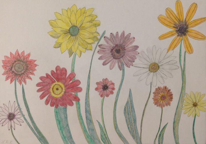 Closeup of flowers in the sun - Arte de Melodía