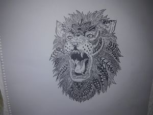 León abstracto