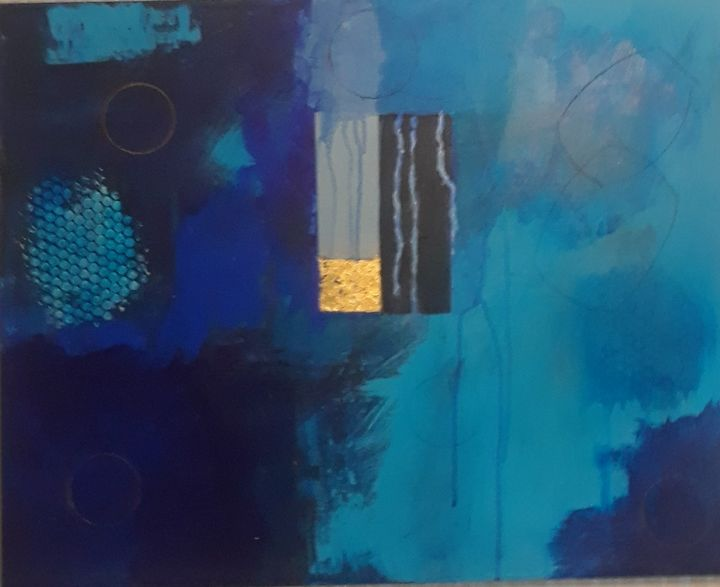 Blue Tears - Thomas Conrad Abstract Art for the Home and Office