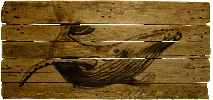 whale on  wood - pechanesumie