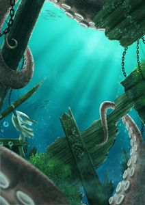 Giant Octopus Hiding in Shipwreck 1