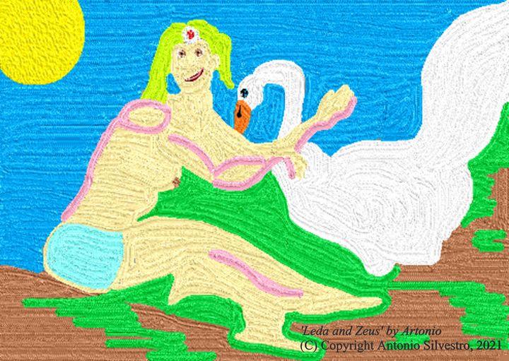 Leda and Zeus - Artonio