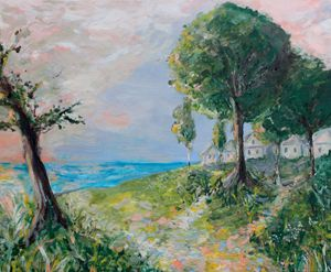 landscape in impressionism style