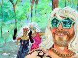 humorous drag painting