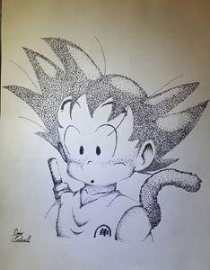 Goku Stippling