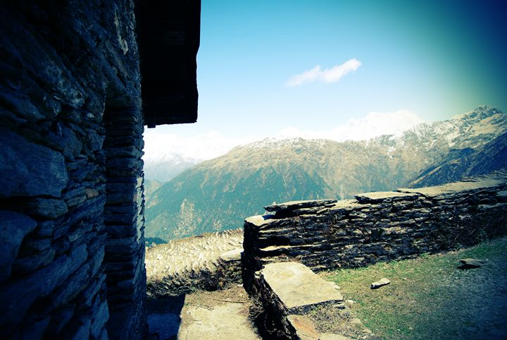 High abode in the mountains - Neelima Jaggia