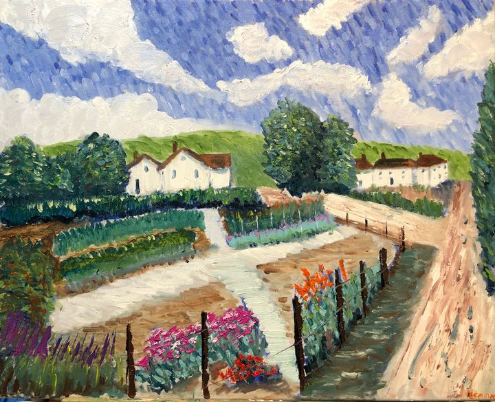 Garden in Reuil, Looking East - Jeff Lemma