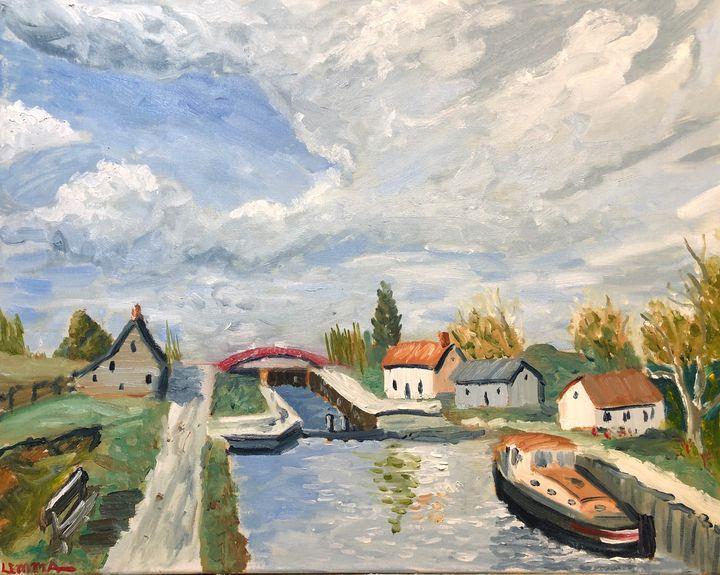 Bourgogne Canal Lock - Jeff Lemma