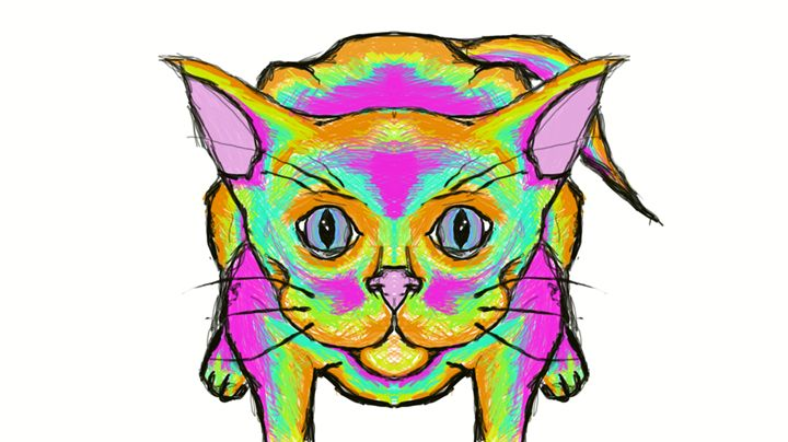 technicolor feline - constructs of my consciousness