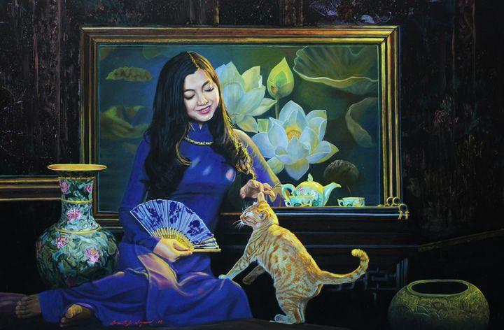 Lovely Cat - Top Art Studio