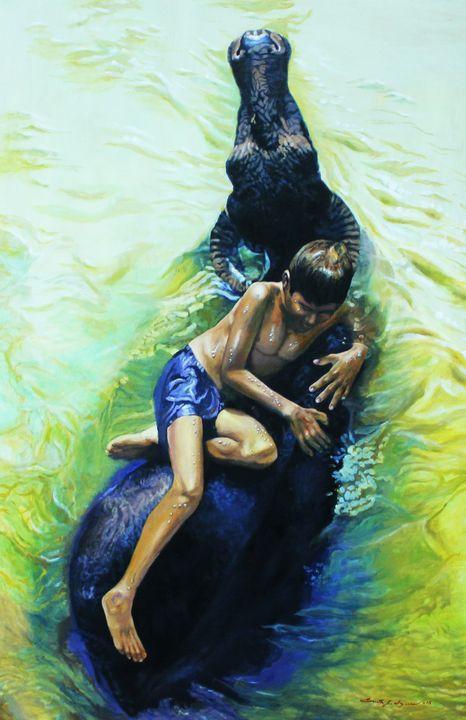 Buffalo Boy - Top Art Studio