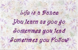 Life is a Dance Quote