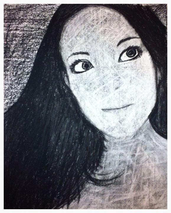 Self Portrait in Charcoal Original - Portraits