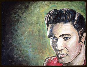 Lovely Print Original Elvis Painting