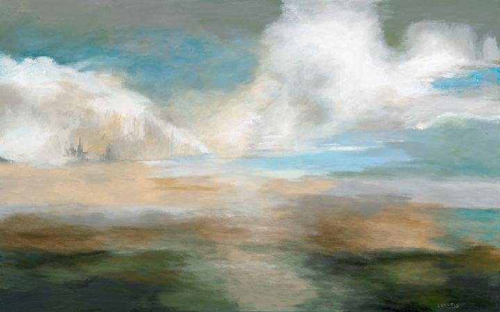 Cloudy Pastures - LDaniels Art