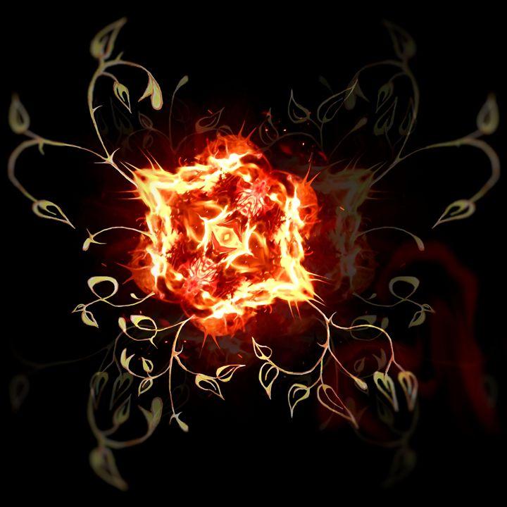 Spurius Fire rose - spuriusart