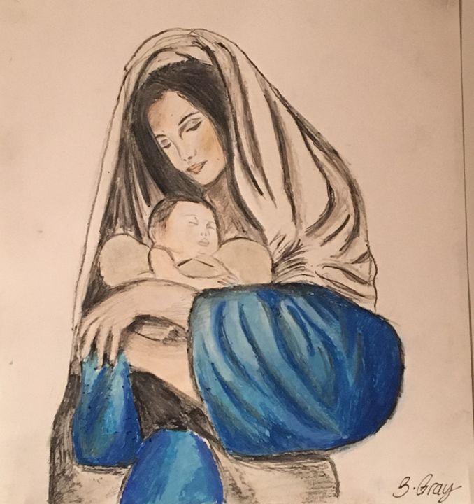 Mary and baby Jesus Nativity - Sarah Beth Gray