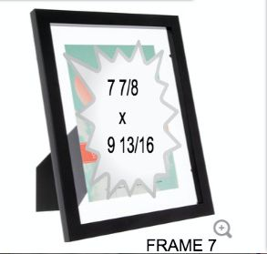 BLACK GLASS FRAME 7
