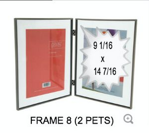 2 PETS GLASS FRAME 8