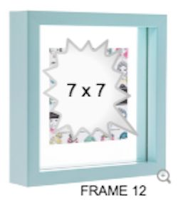 BLUE GLASS FRAME 12