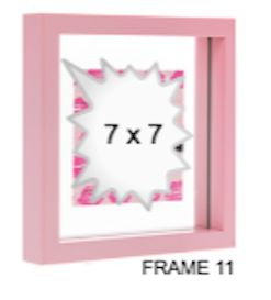 PINK GLASS FRAME 11