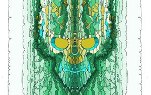 Green an Gold skull