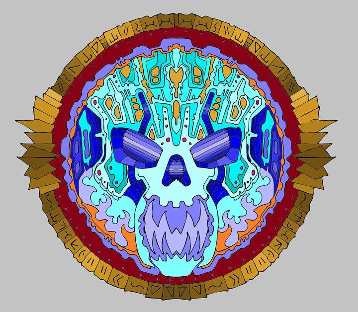 Skull mandalla 420 - Jason Wesho
